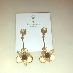 Kate spade yellow flower earrings